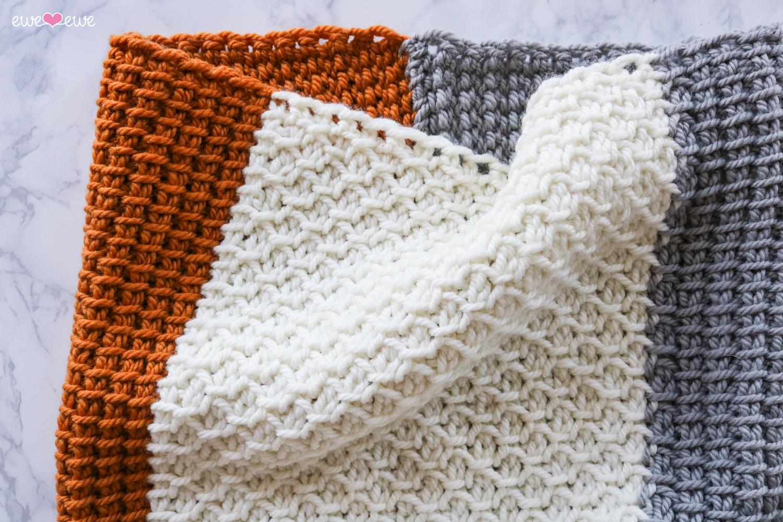 Simple Seed Tunisian Crochet PDF Cowl Pattern — Ewe Ewe Yarns
