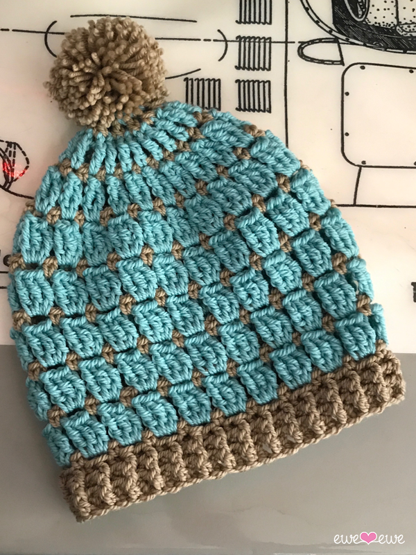 Wooly Windows crochet hat pattern