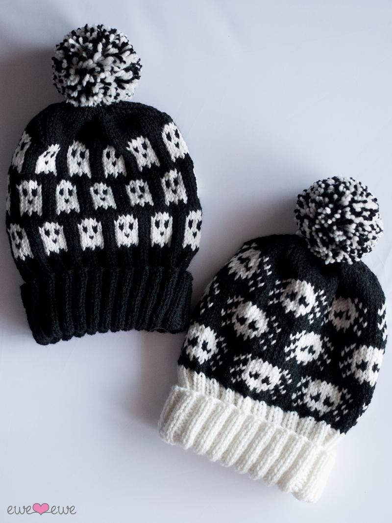 Ghosts Widows Halloween Hats Pdf Knitting Pattern Ewe Ewe Yarns