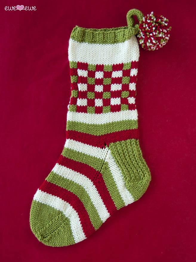 Dashing Through The Plaid Pdf Christmas Stocking Knitting Pattern