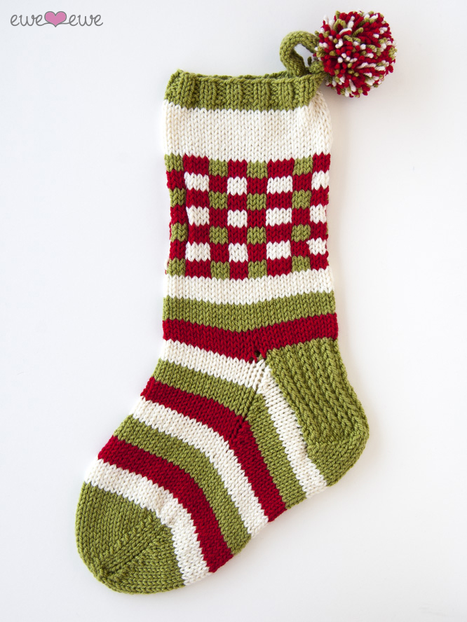 Dashing Through the Plaid PDF Christmas Stocking Knitting Pattern ...