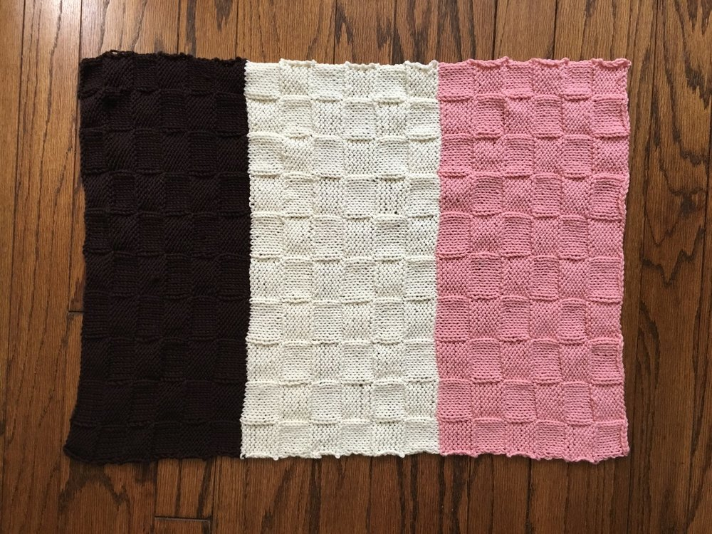 Neapolitan baby blanket using Wooly Worsted yarn