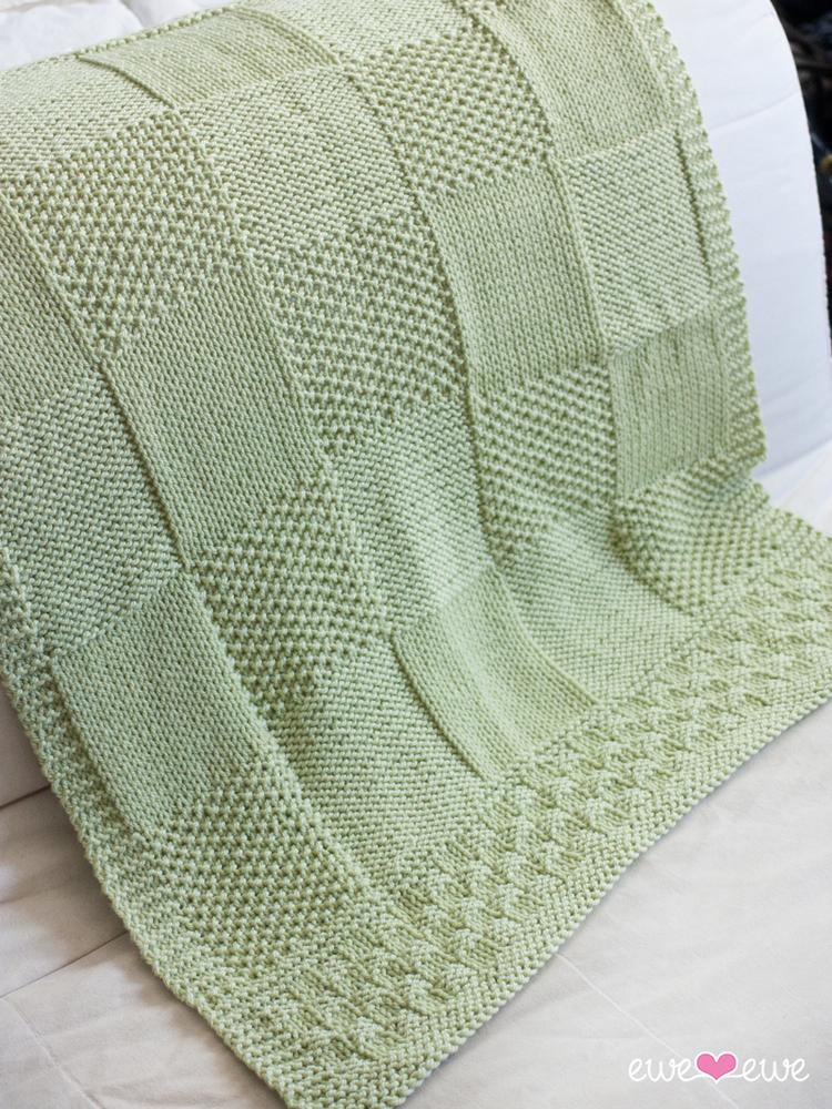 Charles + Chelsea PDF Baby Blanket Knitting Pattern — Ewe Ewe Yarns