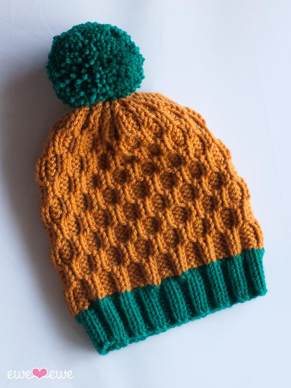 Pineapple Expressions PDF Cable Hat Knitting Pattern — Ewe Ewe Yarns