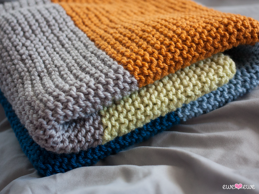 Big Bouncy Baby Blanket FREE knitting pattern