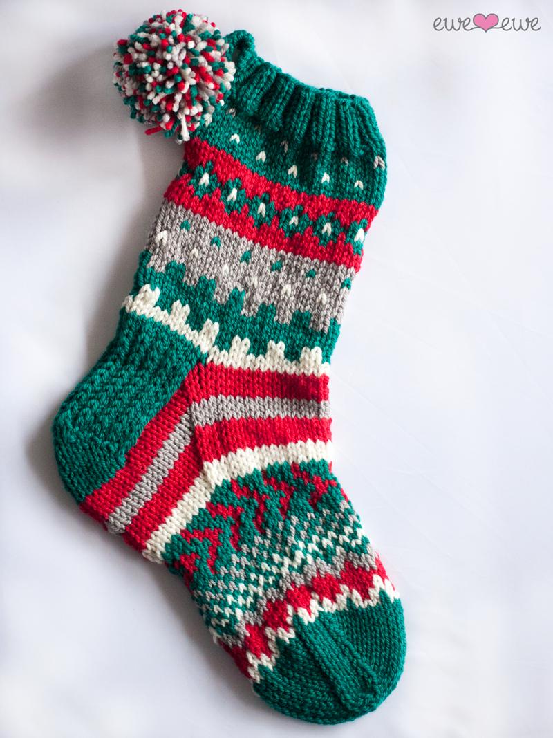 Southwest Stockings Bulky Christmas Stocking Knitting Kit — Ewe Ewe ...