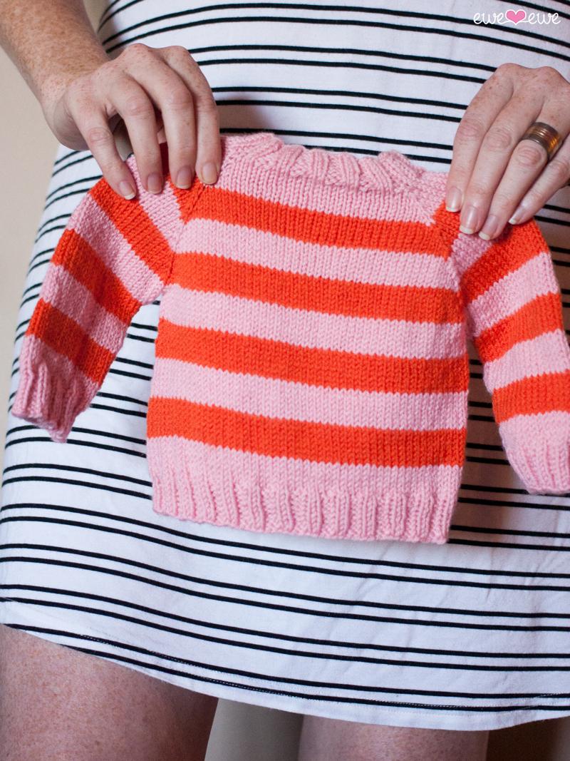 dc1db24e4d7a Easy As ABC Top-Down Raglan Baby Sweater PDF Knitting Pattern — Ewe ...
