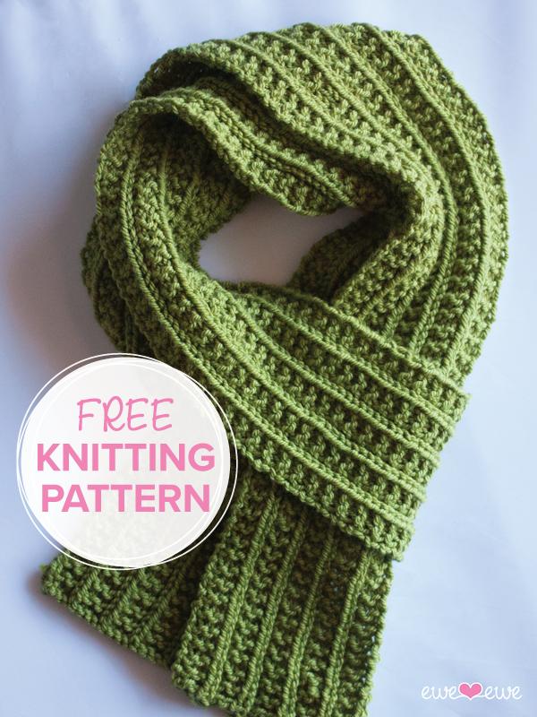 Wainscot Scarf FREE Knitting Pattern — Ewe Ewe Yarns