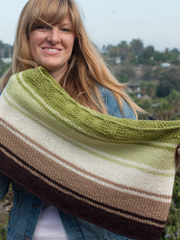 Mint Chocolate Chip color fade cowl knitting pattern