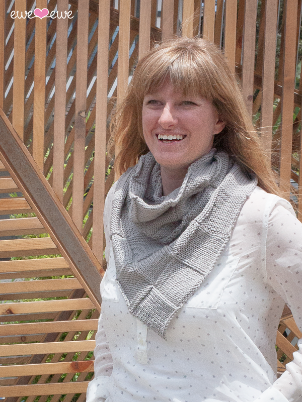 Bask In It basket weave bandana cowl knitting pattern