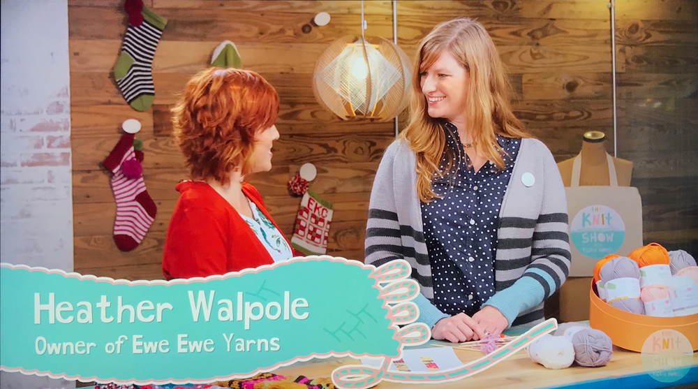 Heather Walpole on The Knit Show with Vickie Howell