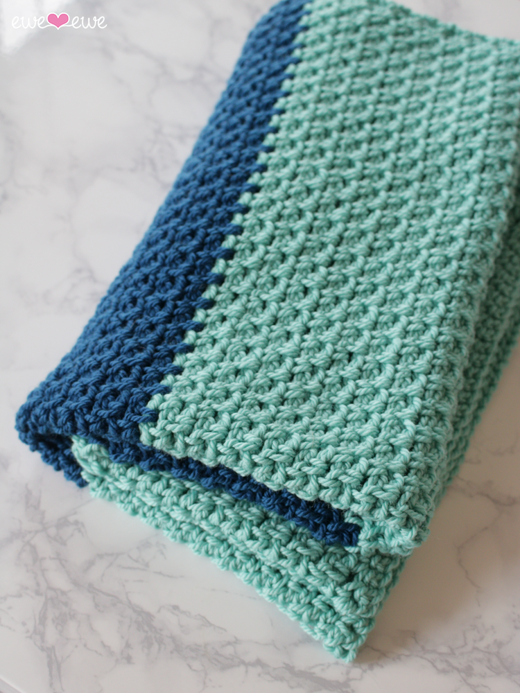 Hayden Color Block Baby Blanket Free Crochet Pattern Ewe Ewe Yarns