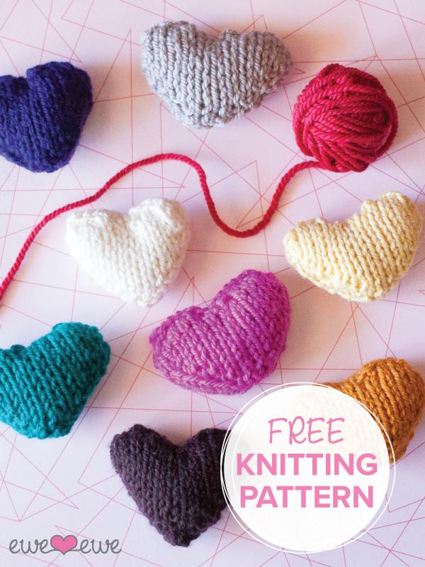 Ewe Ewe Heart Heart Free PDF Knitting Pattern — Ewe Ewe Yarns