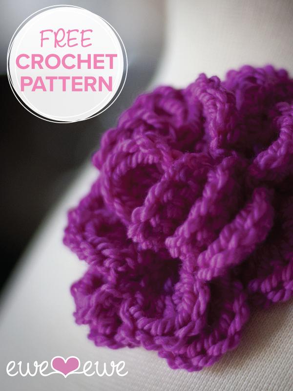 Pretty Corsage Free Crochet Flower Pattern Ewe Ewe Yarns