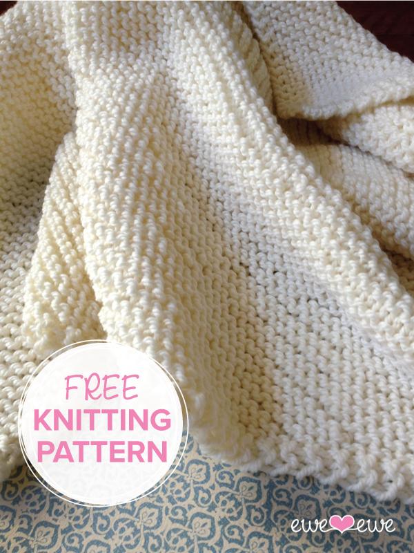 Serenity Baby Blanket Free Knitting Pattern Ewe Ewe Yarns