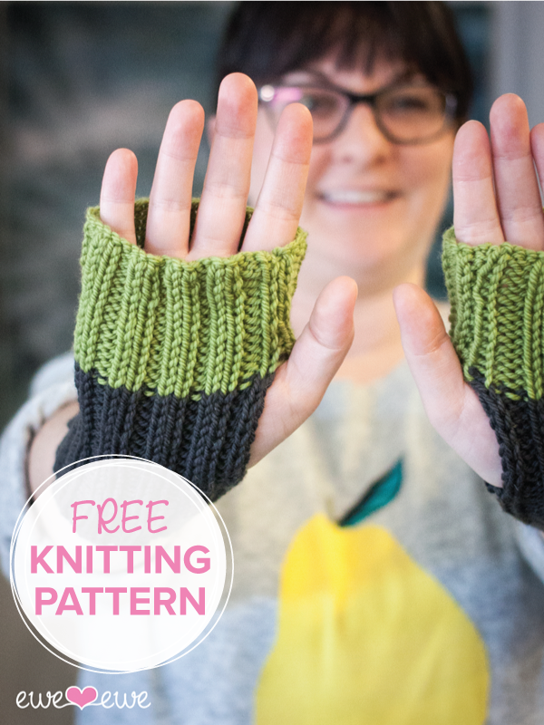 Fireside Wristlets Free Pdf Knitting Pattern Ewe Ewe Yarns