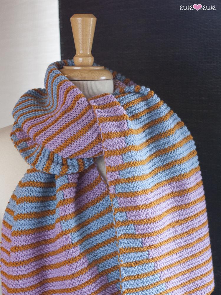 Split Complement Pdf Scarf Knitting Pattern Ewe Ewe Yarns