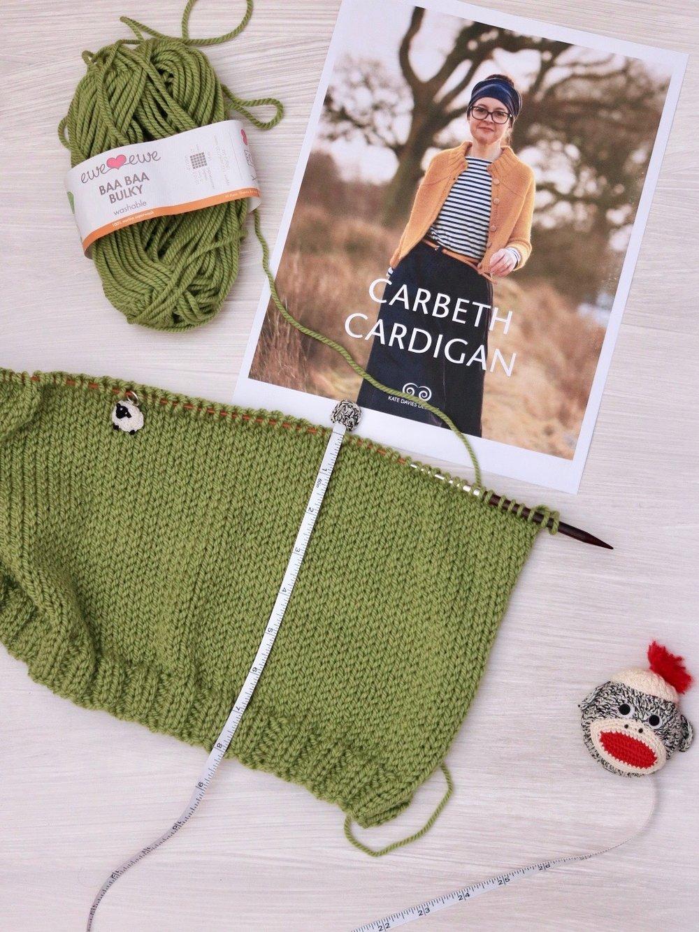 Carbeth Cardigan knitting progress