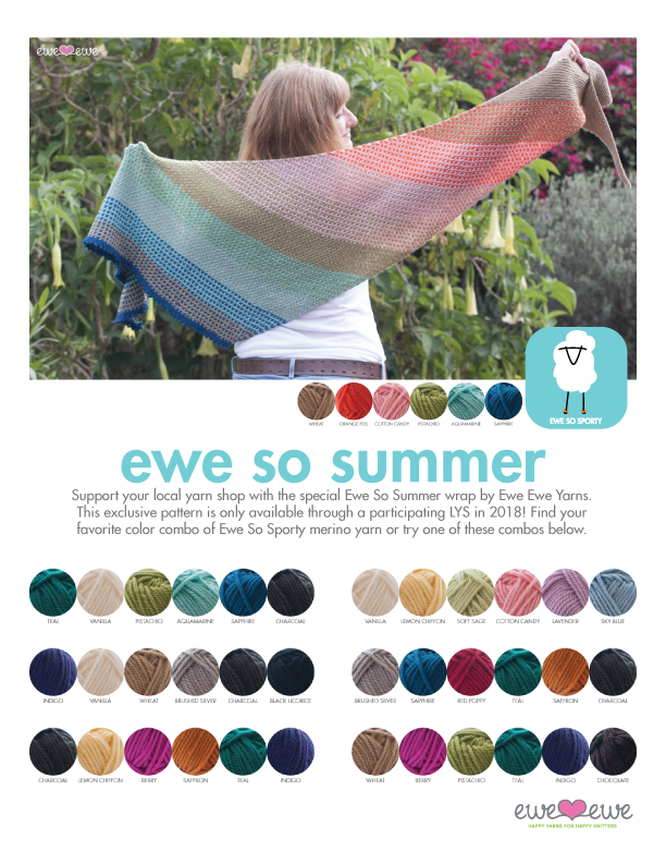 The first ever Local Yarn Store Day was a ton of fun! Read about our  exclusive LYS shawl design >