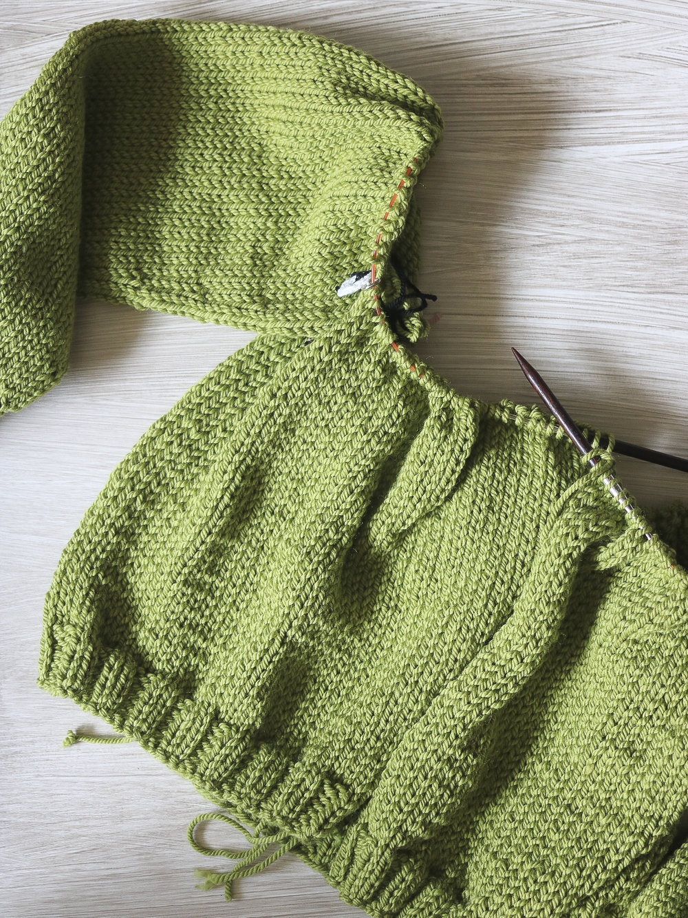 Beginning the yoke of a Carbeth Cardigan