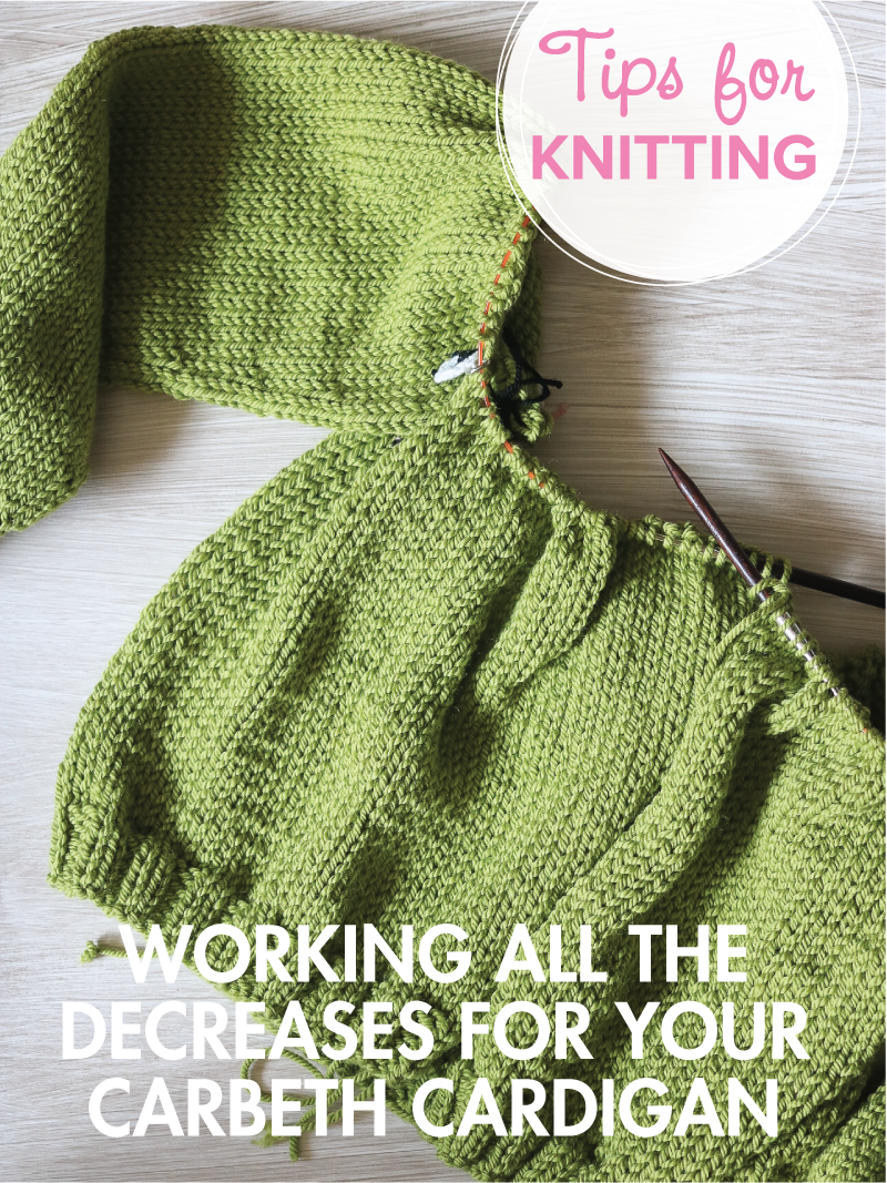 Decreasing the yoke of the Carbeth Cardigan
