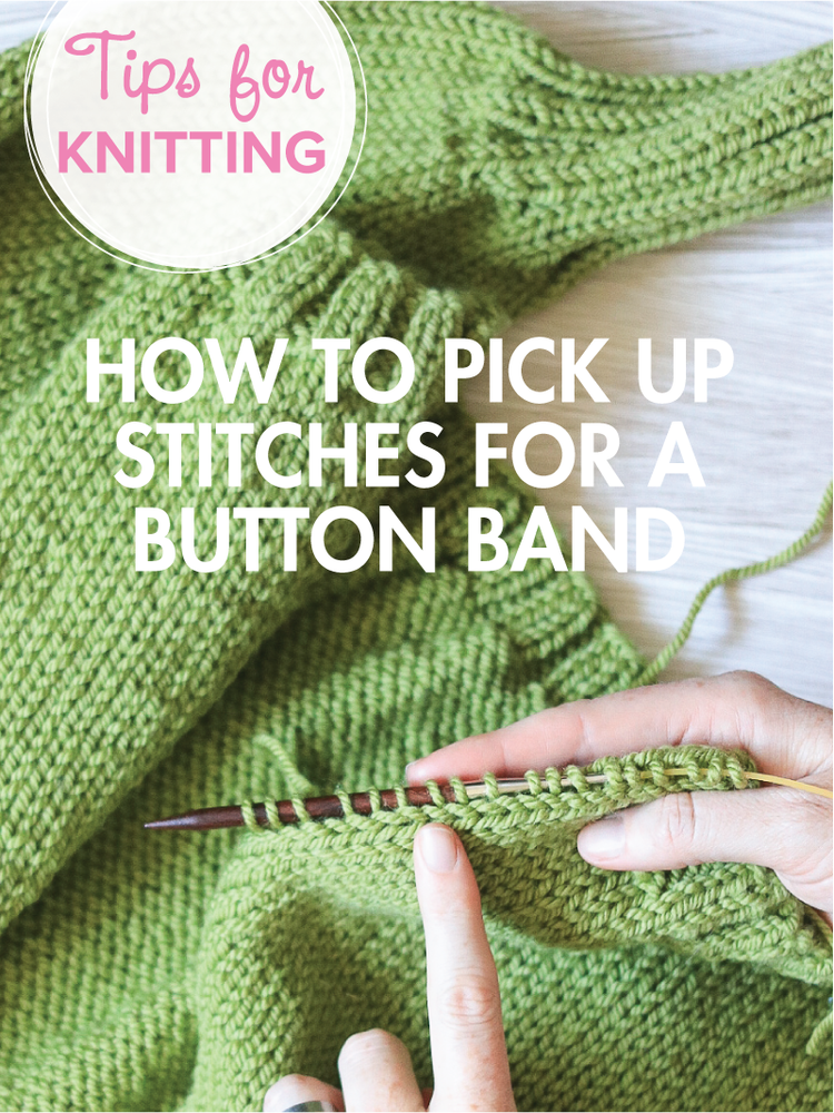 Carbeth Cardigan Kal How To Pick Up Stitches For The Button Band