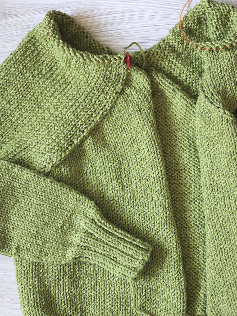 Carbeth Cardigan almost done!