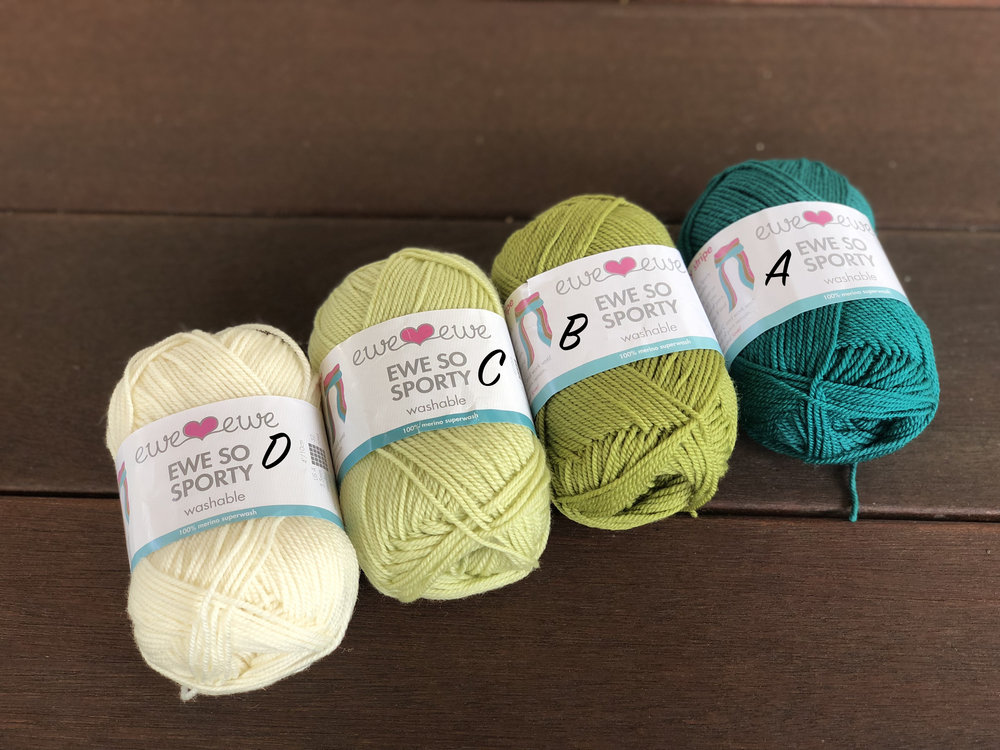 Spruced Up Kit: Vanilla (D), Soft Sage (C), Pistachio (B) and Teal (A)