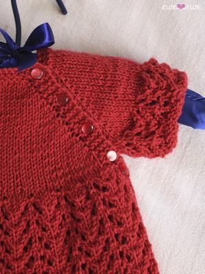bb56632805d9 Cupcake Cardi PDF Lace Baby Cardigan Knitting Pattern — Ewe Ewe Yarns