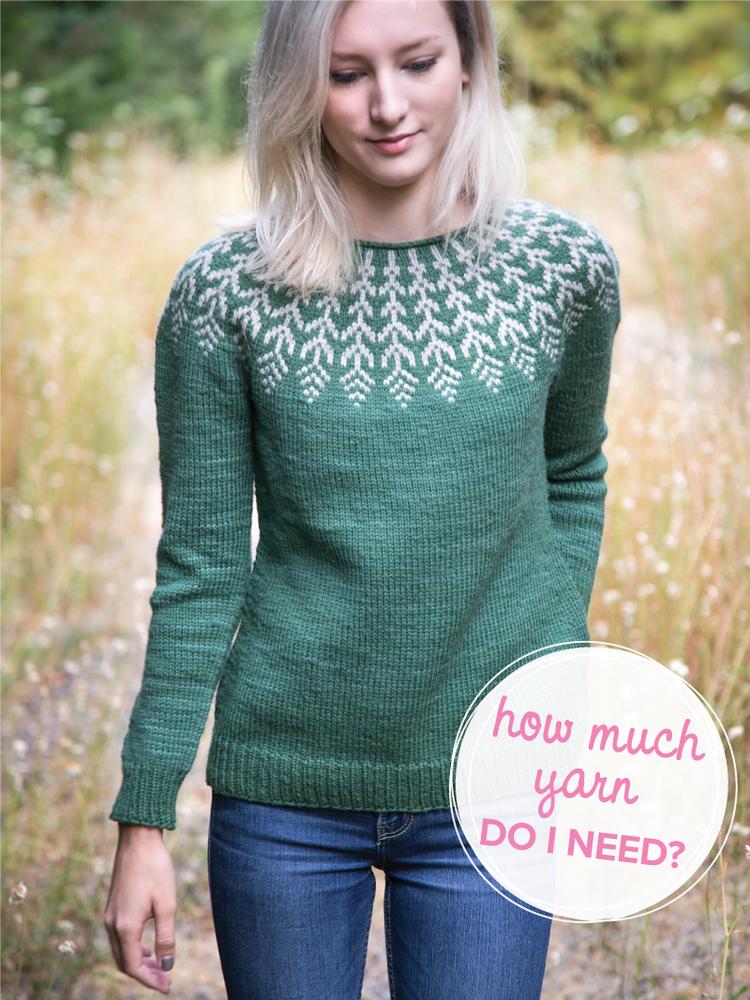 04718e8aad3 How much yarn do I need   Fern   Feather Sweater by Jennifer ...