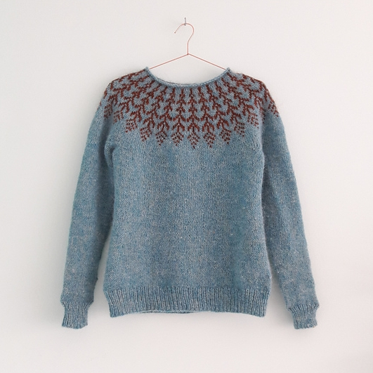 Fern & Feather knit by Ribbels
