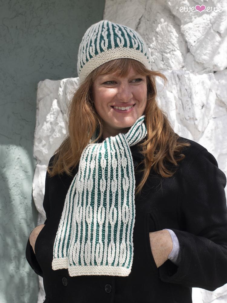 Aspen Leaves PDF Brioche Knitting Hat + Scarf Pattern — Ewe Ewe Yarns 0643e32d56a