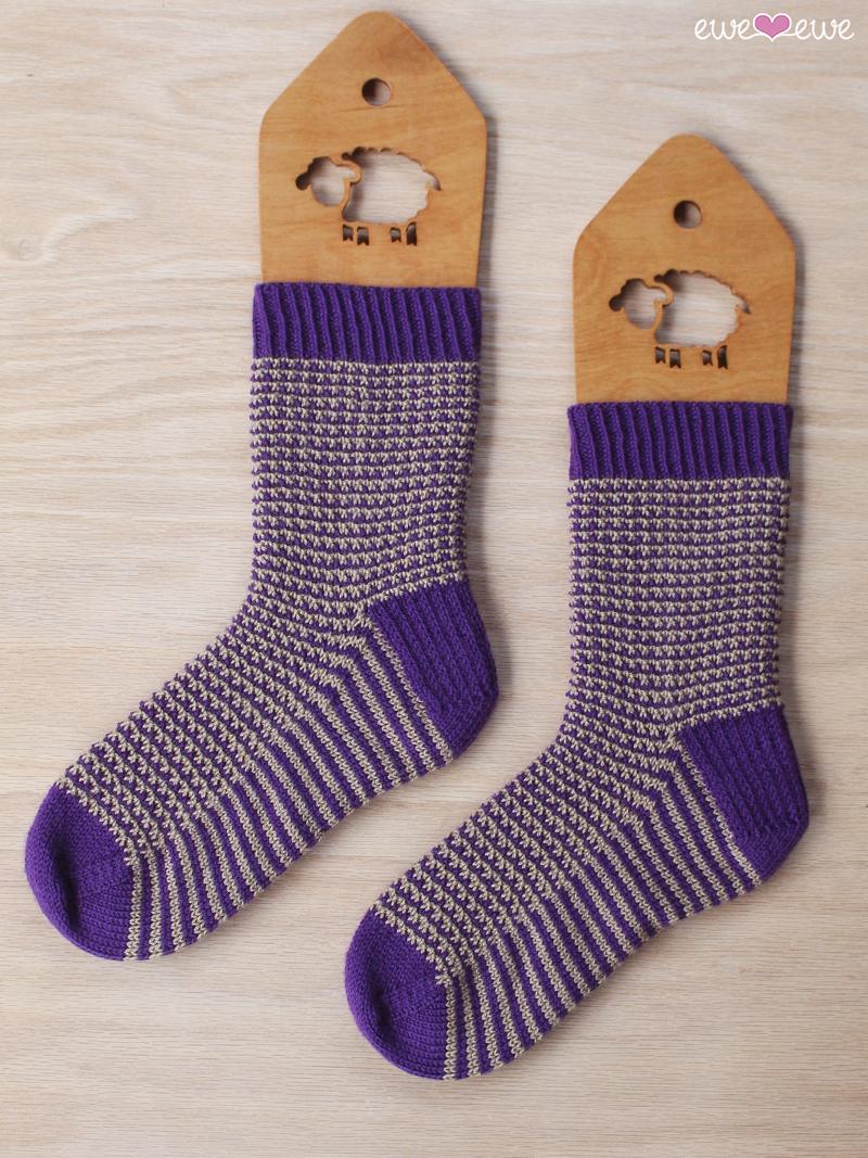 480a4b8c193 Stripe It To Me PDF Sock Knitting Pattern — Ewe Ewe Yarns