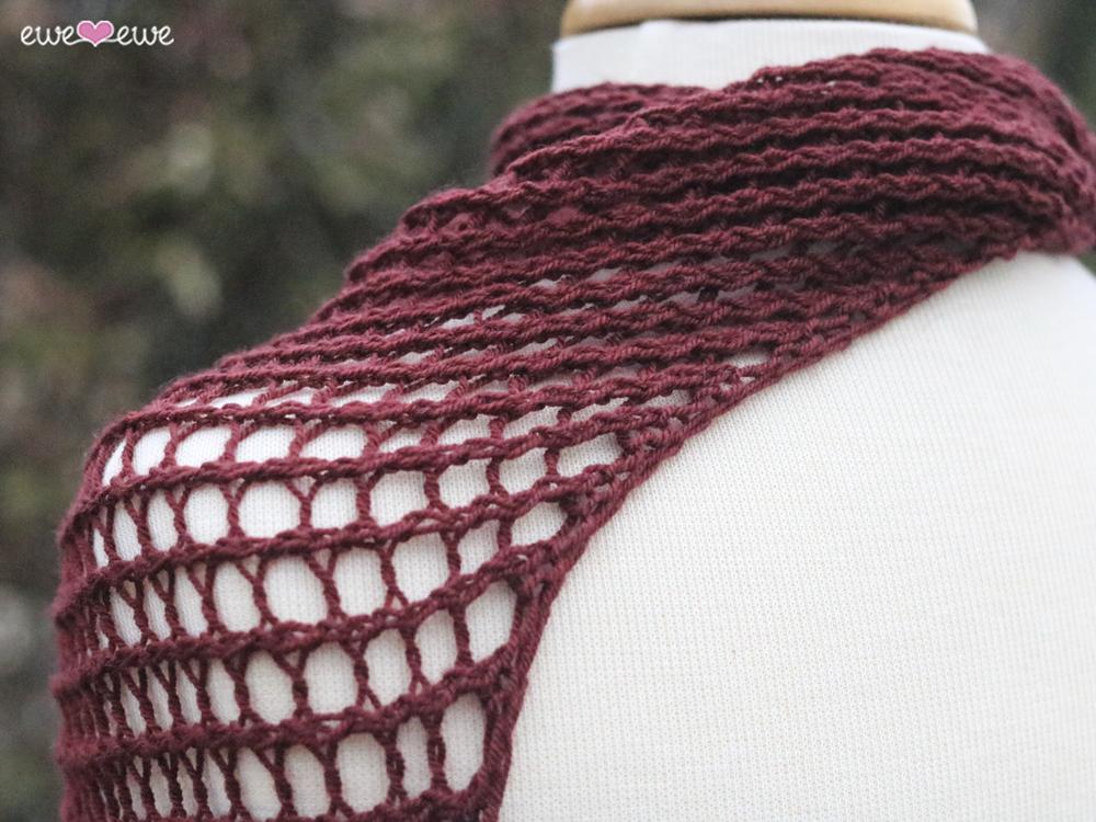 Crescendo Kerchief Pdf Shawl Knitting Pattern Ewe Ewe Yarns