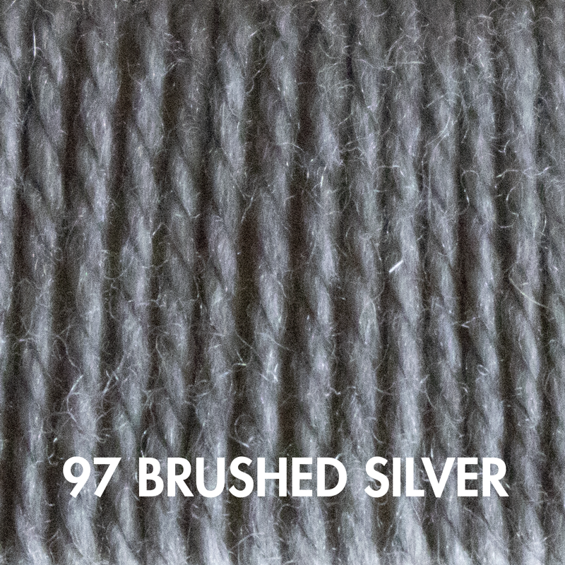 Fluffy Fingering merino sock yarn in Brushed Silver