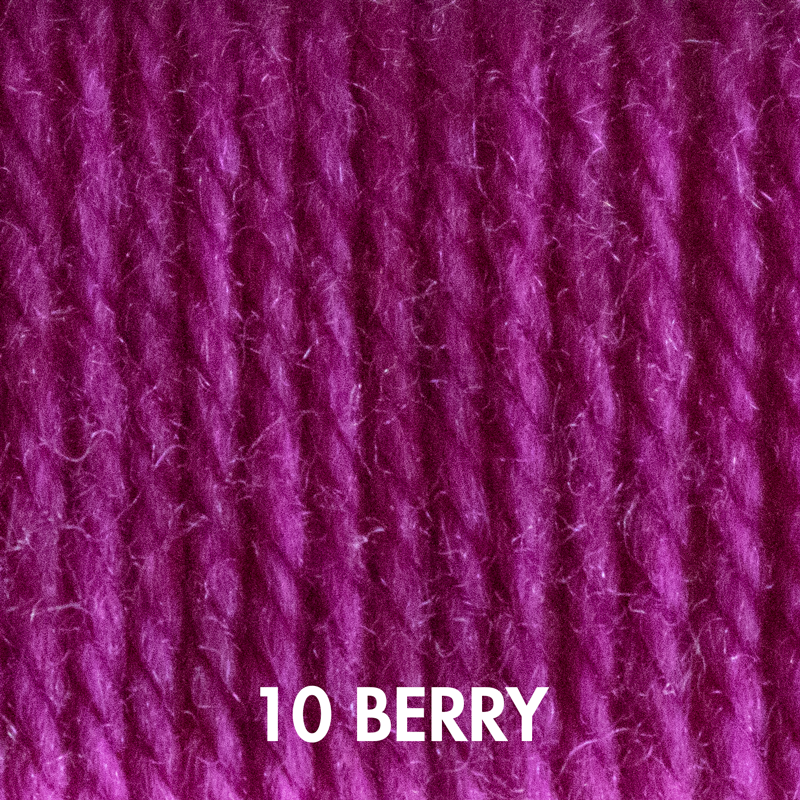 Fluffy Fingering yarn in Berry