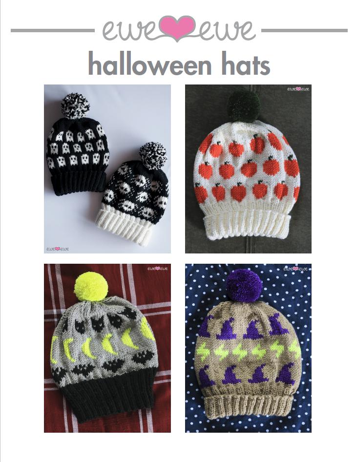 Halloween Hats Pdf Knitting Pattern Collection Ewe Ewe Yarns