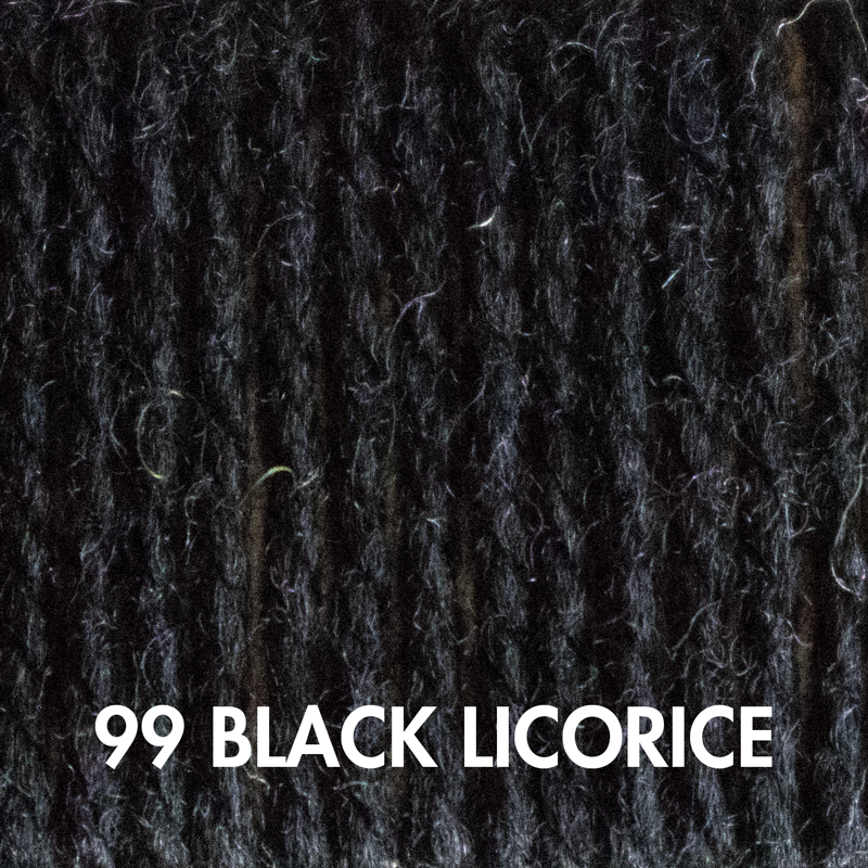 Wooly Worsted yarn in Black Licorice