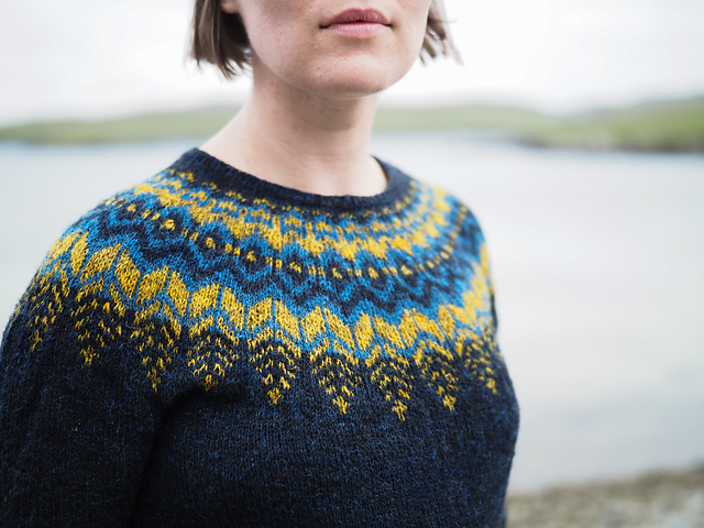 Thriepmuir  yoke sweater by Ysolda Teague