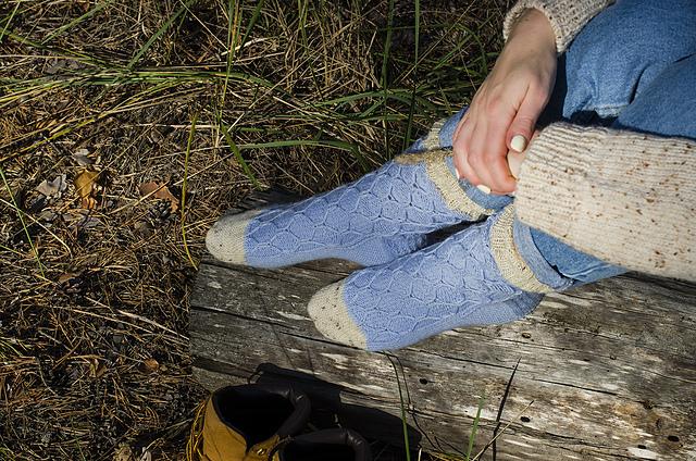 Honey Socks  from WoollyWood Design on Ravelry