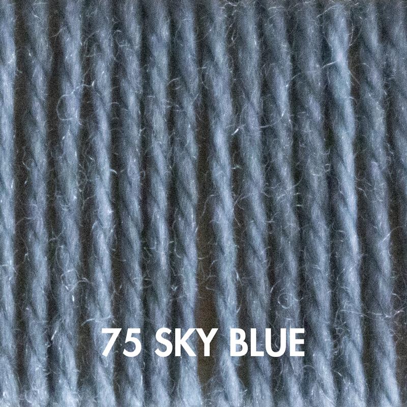 Sky Blue Fluffy Fingering merino yarn