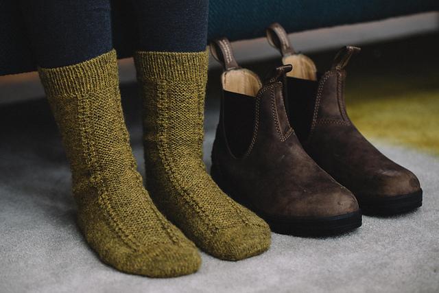 Tuku Honey  boot socks designed by Drea Renee Knits