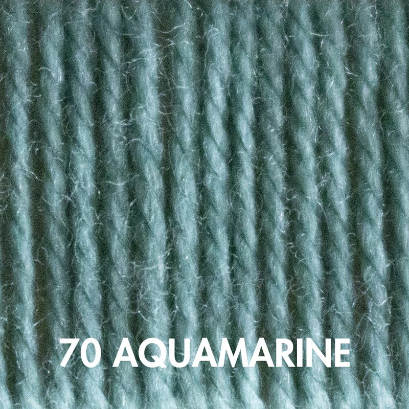 Fluffy Fingering yarn in Aquamarine