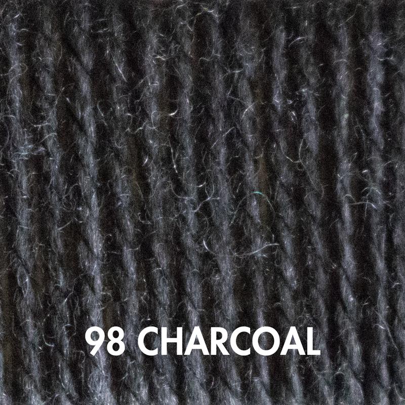 Charcoal Fluffy Fingering yarn