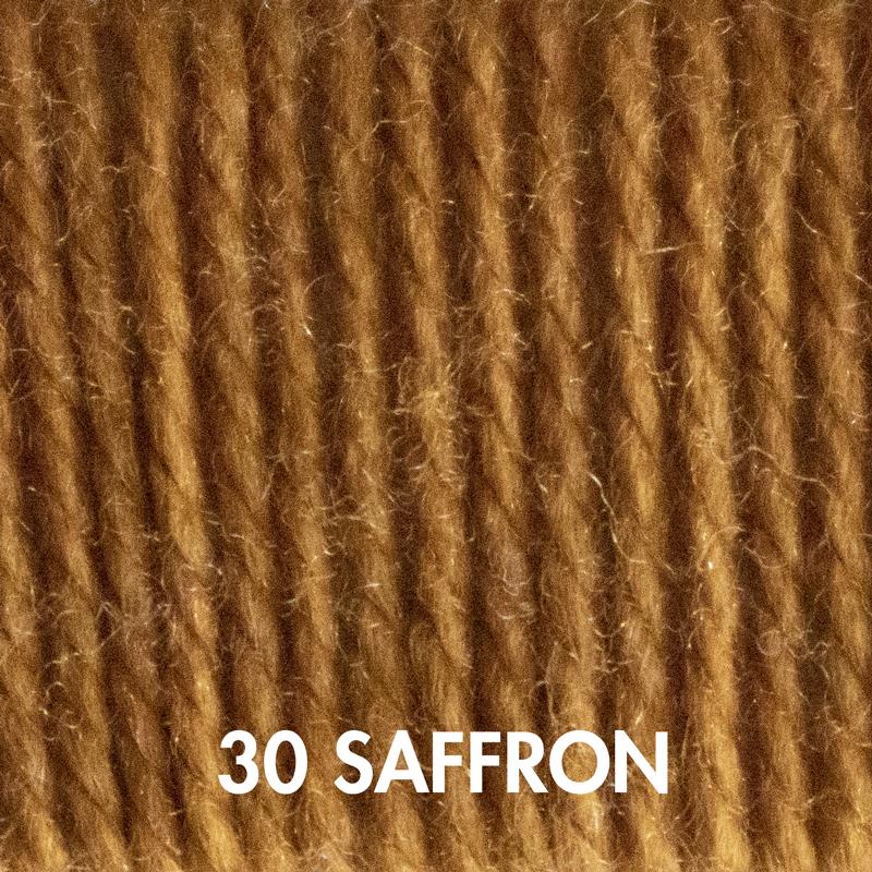 Saffron Fluffy Fingering yarn