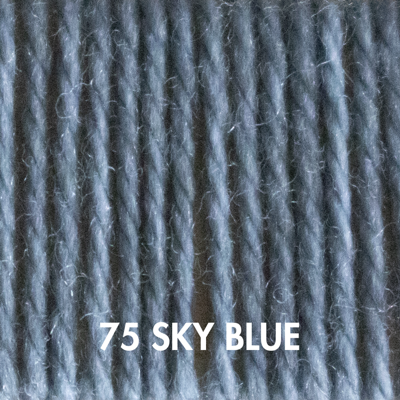 Sky Blue Fluffy Fingering yarn