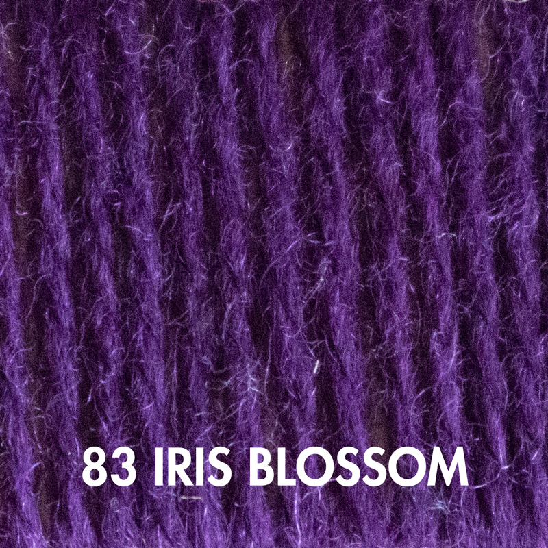 Iris Blossom Fluffy Fingering yarn