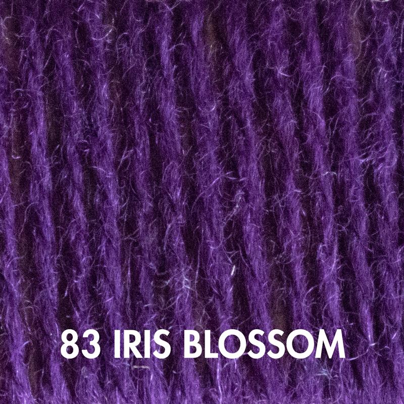 Iris Blossom Fluffy Fingering yarn
