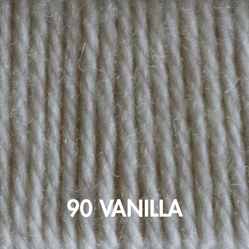 Vanilla Fluffy Fingering yarn