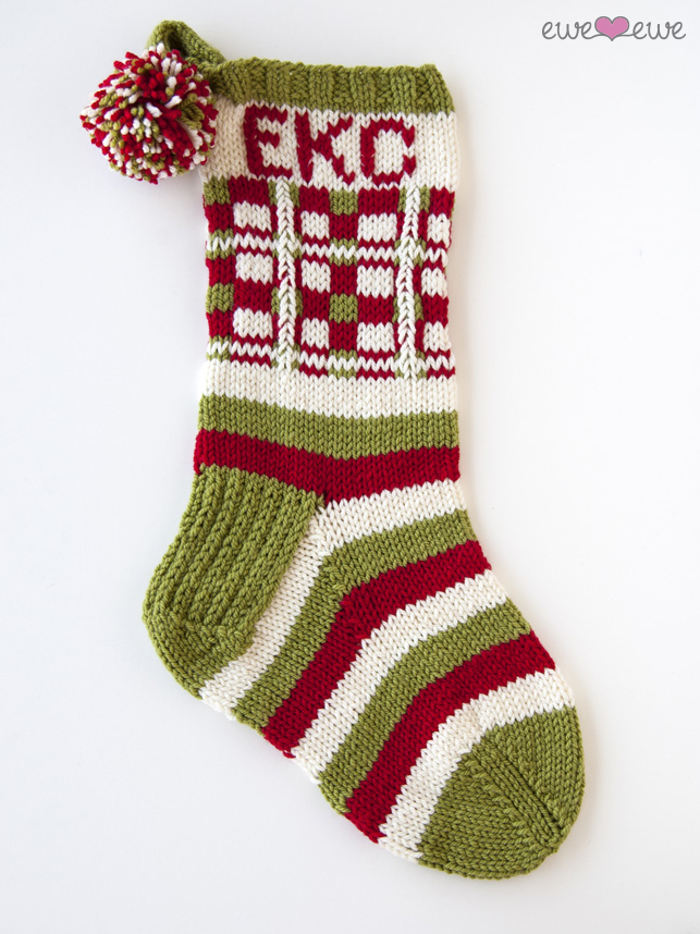 Dashing Through The Plaid Pdf Christmas Stocking Knitting Pattern Ewe Ewe Yarns